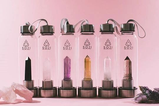Soji Energy Crystal Elixir Water Bottles