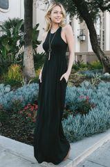 Full Schedule Sleeveless Maxi Dress with Hidden Pockets