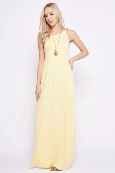 Full Schedule Sleeveless Maxi Dress with Hidden Pockets