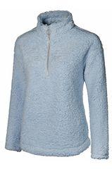 Sky Blue Faux Sherpa 1/4 Zip Pullover
