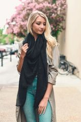 Light Weight Open Knit Blanket Style Scarves
