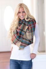 Knit Patterned Soft Blanket Style Scarf