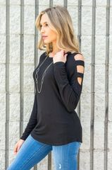 Ladder Sleeve Tunic Top