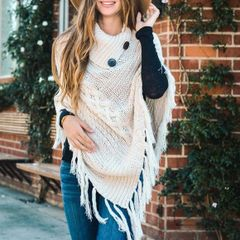 High Neck Style Poncho