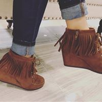 Taya Fringe Wedge