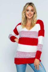 For the Love Of Stripes Color Blocked Sweater