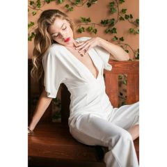 Fly away sleeves jumpsuit