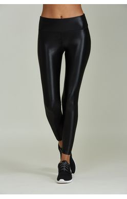 Noli Sheen Black Liquid Faux Leather Leggings