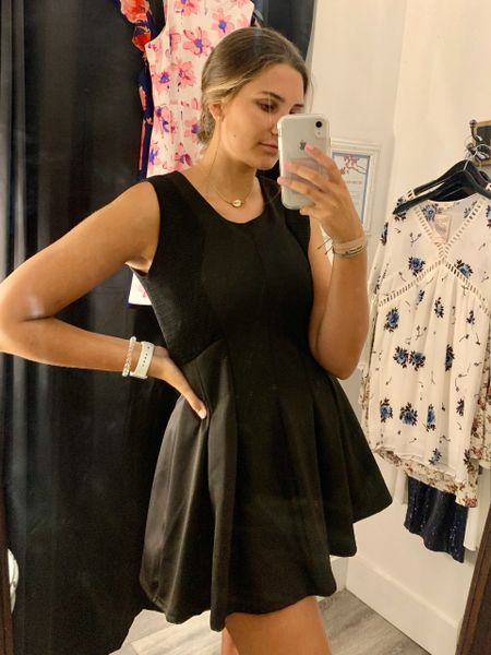 VFish Brand Black Fit & Flare Mini Dress