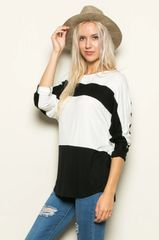 B&W Color Block Sweater