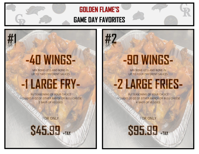 family meal, family deals, Golden Flame