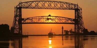 Lake Superior arial  lift bridge