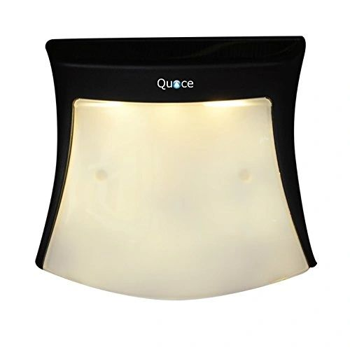 Quace Photo-Sensitive Solar Powered High Quality Smile Shaped Wall Mount Light - Cool White