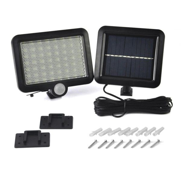 Quace 56LED In-Built Waterproof Motion Sensor Light Outdoor Solar Led Security Lights with Motion Detector Night Wall Lights for Patio, Driveway, Garden, Fence, Deck, Yard, Garage
