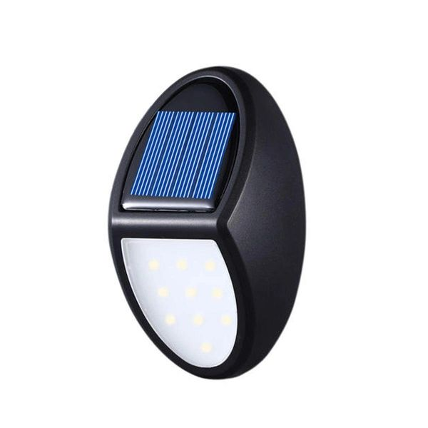 Quace Solar Light Outdoor 10 LED, Garden Lights with Sensor, IP65 Waterproof Night Lights Plug in Wall Auto On/Off Dusk to Dawn use for Front Door, Patio, Yard, Fence, Garden, Driveway, Deck(1 Pack)
