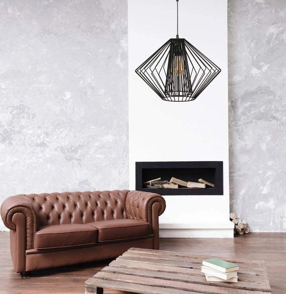 Coudre Black Metal Modern Chic Pendant Light Ceiling Decorative Vintage Chandelier Jhumar Lighting (Bulb not Included) (Style 1)