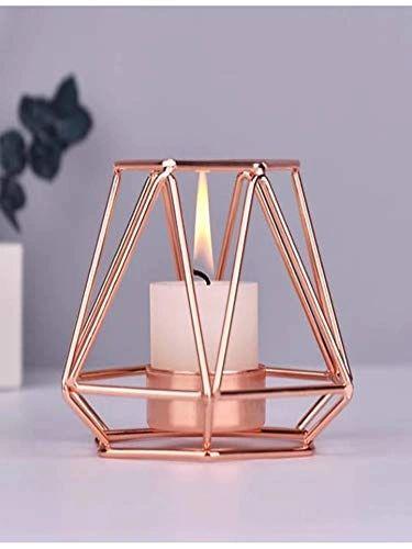 COUDRE Metal Copper Finish Contemporary Votive Candle Holder Lantern