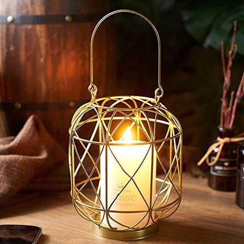 Quace Iron Nordic Hanging Candle Holder (Nordic-Lantern)