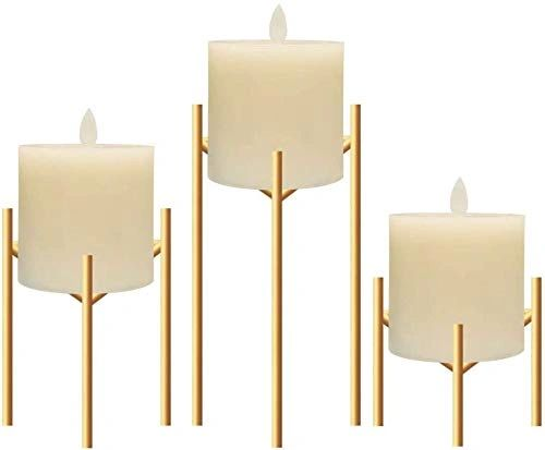Coudre Set of 3 Gold Candlesticks (Gold, Set of 3)