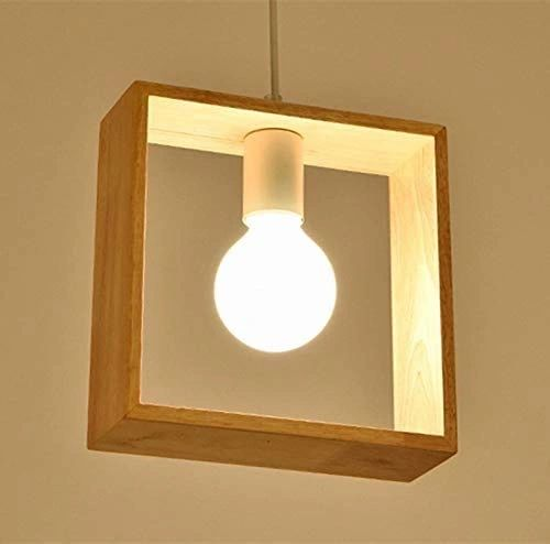 COUDRE 60W Hanging Pendant Light, White, Grey, Square
