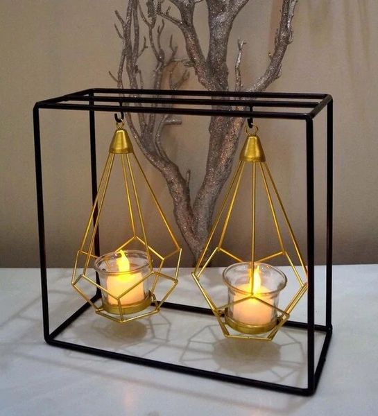 Quace Iron Nordic Hanging Candle Holder (Nordic Double)