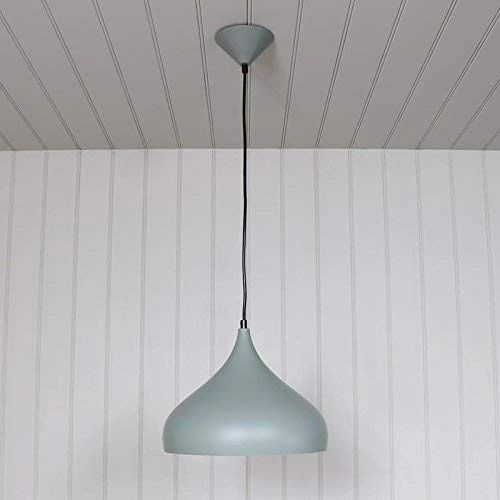 Coudre Grey Finish Metal Dome Pendant Ceiling Light Fitting Fixture Large Size (Bulb not Included)…
