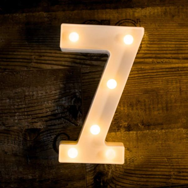 Quace Battery Powered Led Marquee Number Lights Sign Light Up Marquee Number Lights Sign for Night Light Wedding Birthday Party Battery Powered Christmas Lamp Home Bar Decoration (7)