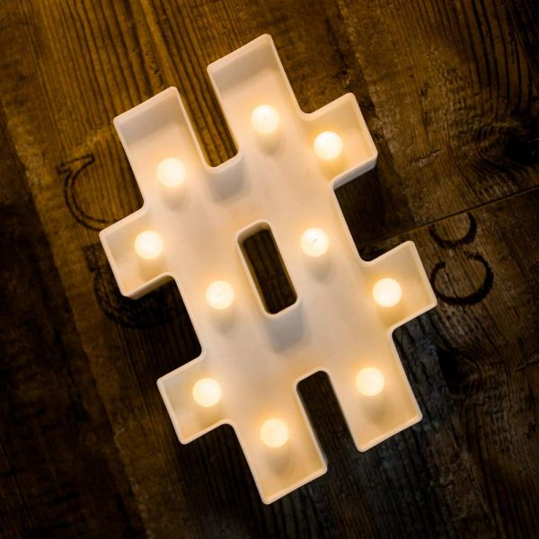 Quace Battery Powered LED Marquee Letter Lights, Warm White, Alphabet