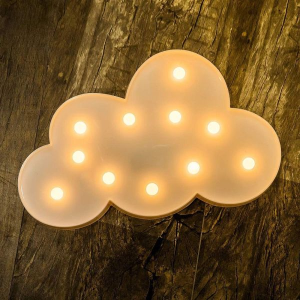 Quace LED Marquee Letter Lights, Warm White, Cloud