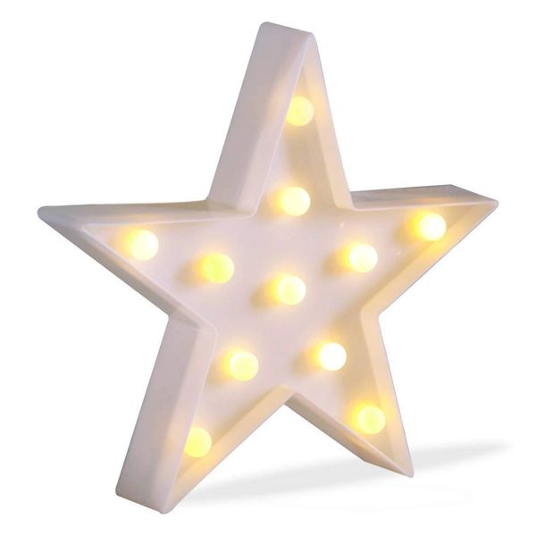 Quace LED Marquee Lights, Warm White, Star