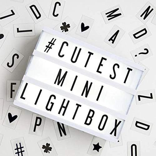 Quace DIY Cinematic LED Light Box with 90 Letters and Symbols (A4 Size, White) -90 Pieces Signs