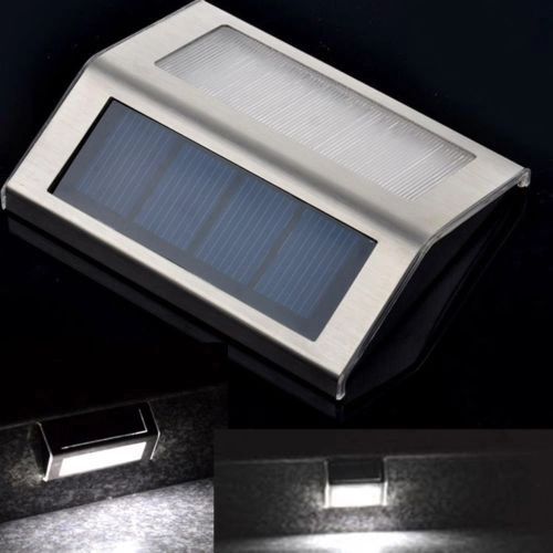 Quace Solar LED Light for Staircase, Driveway, Pathway - White
