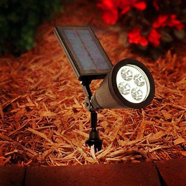 Quace Solar Light Bright Outdoor Led Spotlight For Landscape, Garden, Driveway, Pathway, Yard, Lawn