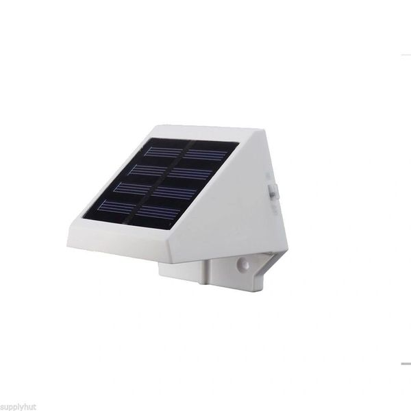 Quace Solar Power Powered Outdoor Garden Light Lamp Balcony Fence LED Wall With Screws - White