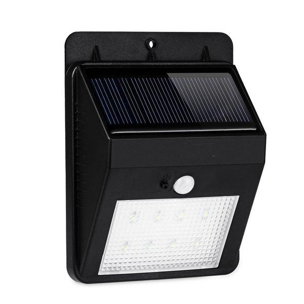 Quace 8 LED Solar Lights Outdoor Bright Light Solar Energy Powered