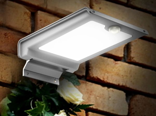 Quace Solar High Brightness Wall Light Motion Sensor 46 White LED
