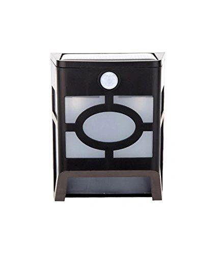 Quace Solar Power Garden Balcony Lamp Motion Sensor Box LED Lights Constantly