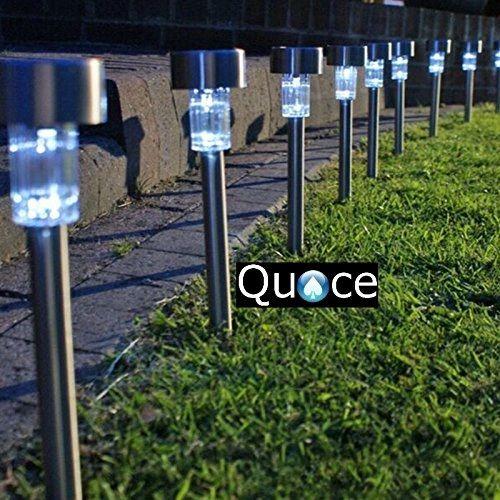 Quace Solar LED Light for Garden Rod Set of 10