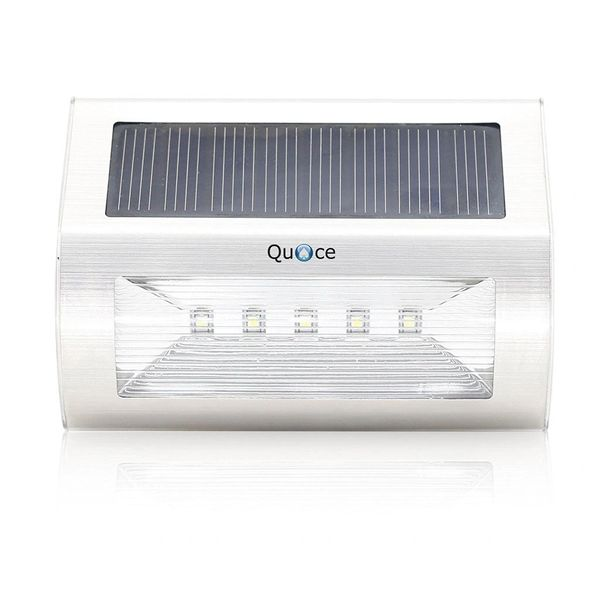 Quace Brand New Solar Stair/Pathway Step Lights with 5 Led for Outdoor Garden Stainless Steel