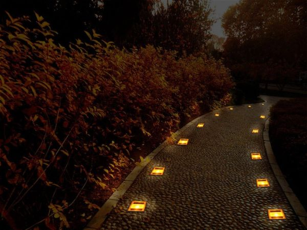 Quace Brand New Weatherproof Solar Powered Deck Underground LED Lights Lamp Outdoor Garden Yard
