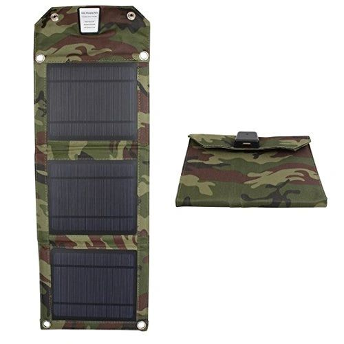 Quace 7W USB Folding Solar Panel Outdoor Portable Charger For Mobile Phone