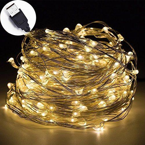 Quace 240 LED 24m + 5m Copper String Light USB Powered Diwali Christmas Festival