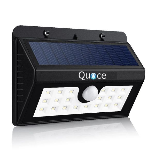 Super Bright 20 LED Solar Light Powered Wireless Weatherproof Outdoor Security Wall Light Motion sensor with 3 Intelligent Modes,Black