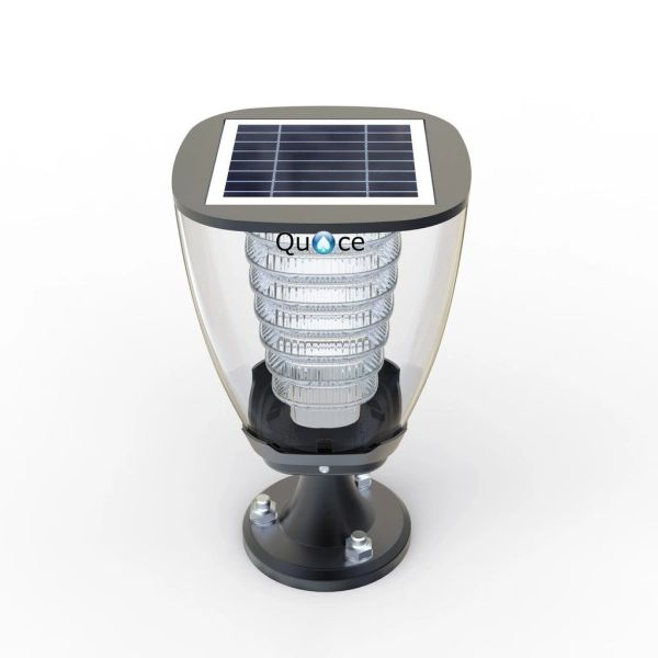 Quace High Quality Solar Pillar Light - 2 Nights illumination on Full Charge