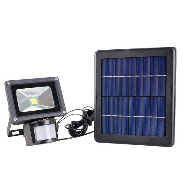 Quace 14W LED Solar Flood Light with Triple Mode - Light Control/Constant Brightness/Motion Sensor