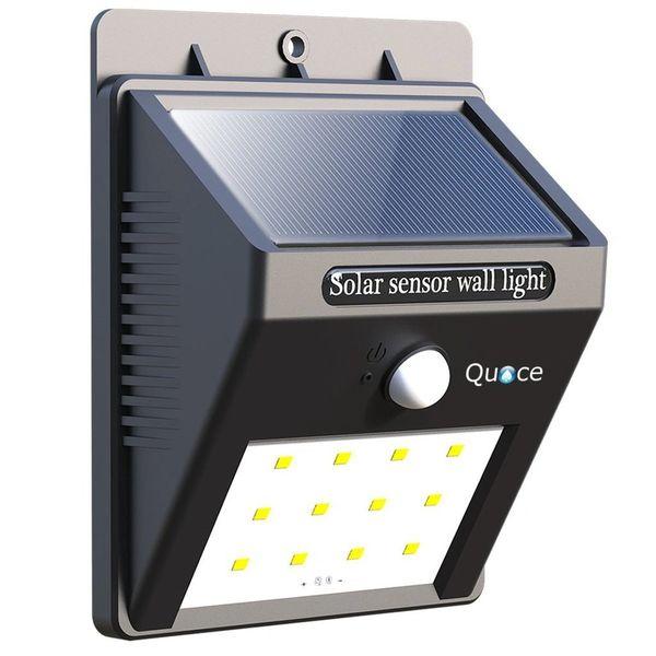 Quace Weather Resistant 12 LED Motion Sensor Solar Light - Special Promotion Price