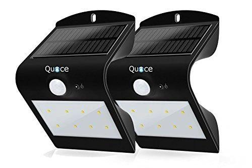 Set of 2 Quace Curved Special Design 8 LED Motion Sensor Solar Light