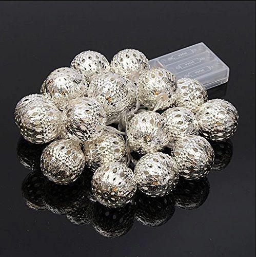 Metal Ball Led White String Light For Diwali Decoration