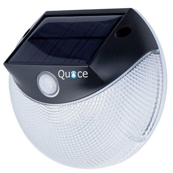 Quace Motion Activated with Inbuilt Double Mode Garden Solar Light (White, Plastic)