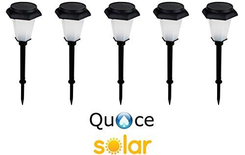 Quace Hex Design Solar Garden Light for Ambient Lighting - Set of 5 Colour Changing - Red/Green/Blue